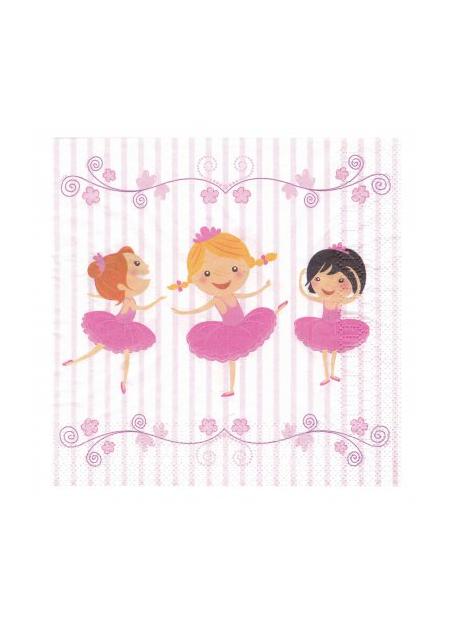 20 tovaglioli di carta piccole ballerine